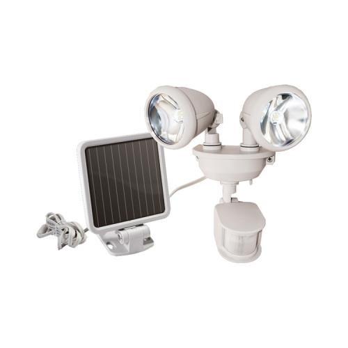 Maxsa Innovations 44218 Dual-Head Solar Spotlight (Off White) (Maxsa Innovations 44218) by Maxsa