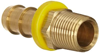 Dixon BPN Series Brass Push-On Hose Fitting, Adapter, NPTF Male x Hose ID Push On