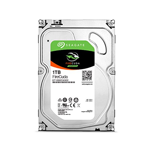 Seagate ST1000DX002 FireCuda 1TB, interne Hybrid Festplatte, SSHD, 8,9 cm (3,5 Zoll), 64 MB Cache, SATA 6Gb/s