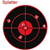 YouOK Splatter Reactive Shooting Targets | Red Self-Adhesive Stickers Label Target Pasters - Creates Huge Super Splatter Spots - See Your Hits Instantly (Qty 250pcs-3 inch)
