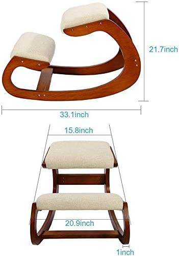 XBSLJ Bureau de chaises à Genoux Chaises à Genoux, Chaise de Correction de Posture pour la Correction, soulagent Les maux de Dos et Chaise à Bascule de Bureau/Chaise d'ordinateur