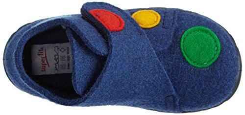 Superfit Happy - Zapatilla de estar por casa Niños azul - Blau (OCEAN KOMBI 81)