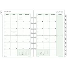 "Day-Timer Refill 2018, Two Page Per Month, January 2018 - December 2018, 5-1/2"" x 8-1/2"", Loose Leaf, Desk Size, Classic (87229-1801)"