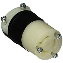 Leviton 4889-C 15 Amp, 250 Volt 3-Phase, NEMA L11-15R, 3P, 3W, Locking Connector, Industrial Grade, Non-Grounding - Black-White