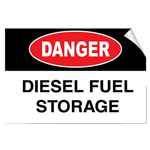 (Yilooom Danger Diesel Fuel Storage Hazard Label Decal Sticker)