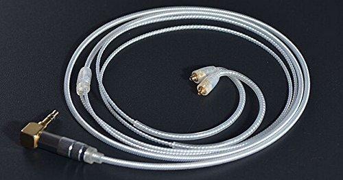 MiCity 交換用オーディオ延長ケーブルコード シルバーメッキケーブルコア Shure Se535 Se215 Se315 Se425 Se846 ヘッドホン用  4# B073ZX44WV