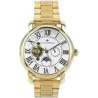 RALPH CHRISTIAN Men's Luxury 18K Gold Tourbillon Style Automatic Wrist Watch - Knox - Mechanical Self Winding Timepiece, Day/Night Dial & Waterproof