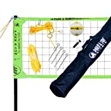 Park & Sun Sports Tournament Flex Outdoor Volleyball Net Set, Green (Open Box)