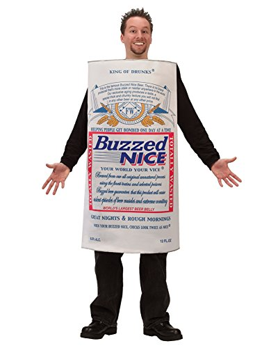 Mens Halloween Costumes Buzzed Beer Can Costume College Humor Easy Costume Sizes: One (Easy Frat Halloween Costumes)