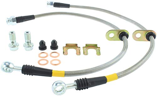 Gt Brake Lines - StopTech 950.47005 Stainless Steel Braided Brake Hose Kit Front Stainless Steel Braided Brake Hose Kit