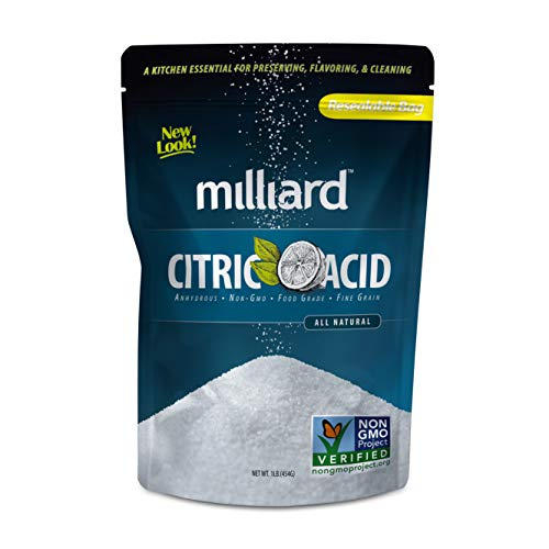 - Milliard Citric Acid 1 Pound - 100% Pure Food Grade NON-GMO Project VERIFIED (1 Pound)