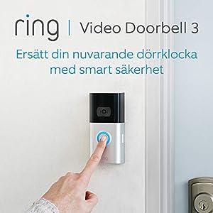 Ring Video Doorbell 3 | HD-video, förbättrad rörelsedetektion och enkel installation | 30 dagars kostnadsfri provperiod på Ring Protect Plan ingår