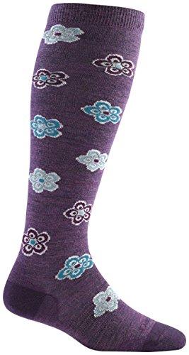 Darn Tough Merino Wool Starbust Knee High Light Sock - Women's Plum Small DISCONTINUED