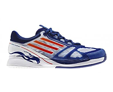 reputable site b704c 895cb Adidas Climacool Adizero Feather 2.0 Mens Tennis Shoes, Blue/White/Red, Uk7