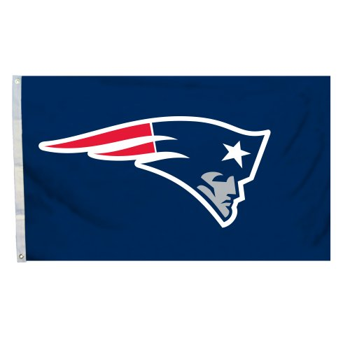 NFL New England Patriots Logo Flag with Grommets, 3 x 5-Foot -