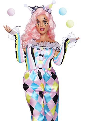 Leg Avenue Women's 3 Pc Pretty Parisian Clown Costume, Multi, Small ()