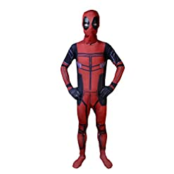 - 41sKdunbx7L - Elakaka Deadpool Costume for Kids,Teens Unisex Lycra Spandex Zentai Halloween Cosplay 3D Style Costumes
