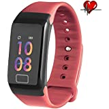 Cocofit Fitness Tracker,Activity Tracker with Heart Rate Monitor,Blood Pressure Monitor,Sleep Monitor,Stopwatch,Waterproof Smart Wristband with Step Calorie Counter,Pedometer Watch for Kids Women Men