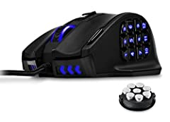 What's new? 1) the LED color of scroll wheel can be programmed by driver software. 2) material upgraded to be frosted finish. 3) Multi-language driver software. 4) Stronger international package. Overview The UtechSmart Venus MMO Gaming Mouse is outf...
