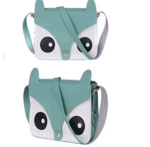 Womens Messenger Tote Shoulder Crossbody Fox Retro Grey Owl Satchel Bags Ladies Animal Handbag gXwaqgrxS