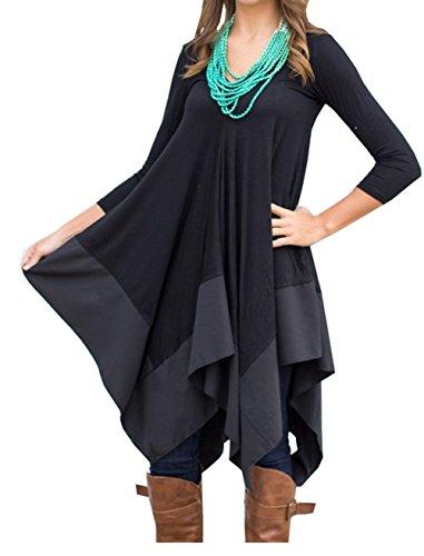 Womens Asymmetrical Casual Feminine Sleeve product image