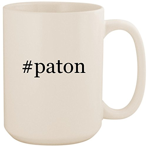 (#paton - White Hashtag 15oz Ceramic Coffee Mug Cup)