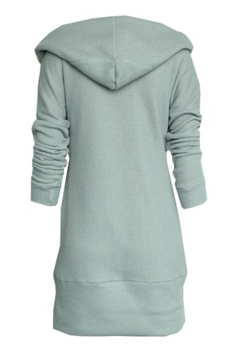CA Fashion Women's Long Top Hoodie Kint Sweater Knitwear Hooded at ...