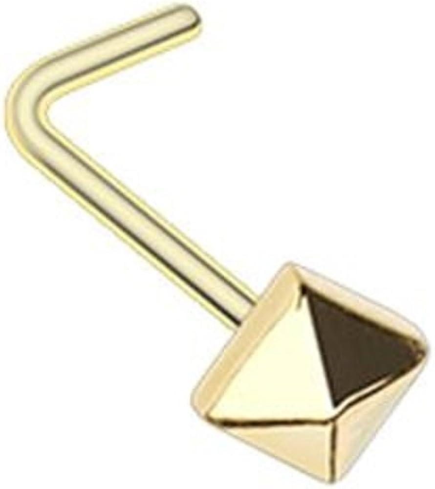 Golden Basic Steel Spike WildKlass Nose Stud Ring