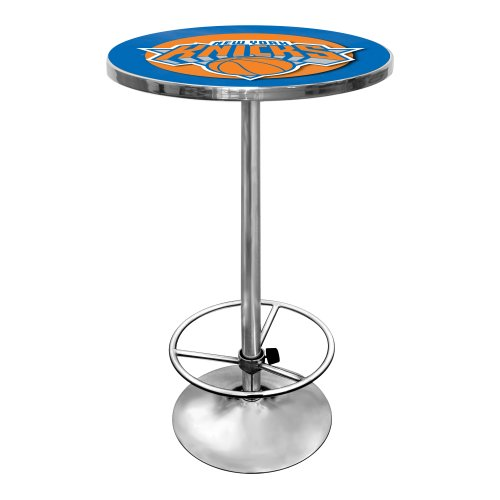 NBA New York Knicks Chrome Pub Table by Trademark Gameroom