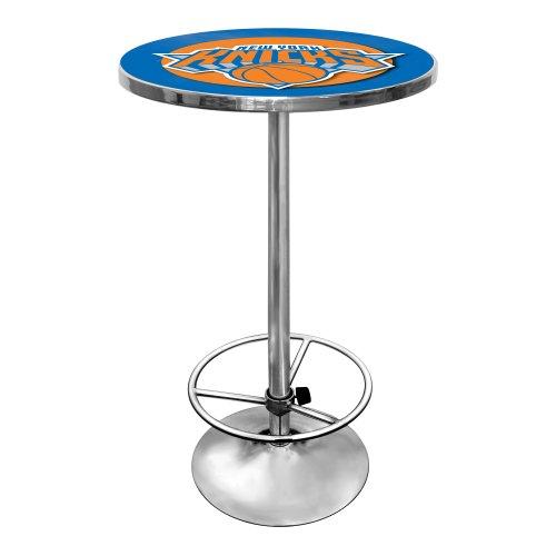 NBA New York Knicks Chrome Pub Table by Trademark Gameroom