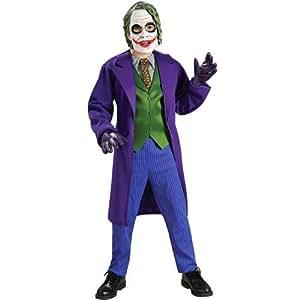 Batman The Dark Knight Deluxe El Joker Disfraz, Como se muestra, Pequeño