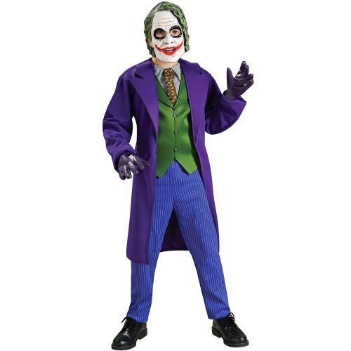 [Batman The Dark Knight Deluxe The Joker Costume, Child's Small] (Joker Costumes Kids)