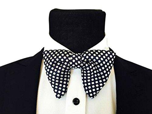 Mens-FERUCCI-Oversized-Bow-Tie-Tuxedo-Black-Silk-Bowtie-with-White-Polka-Dot-big-bow-tie