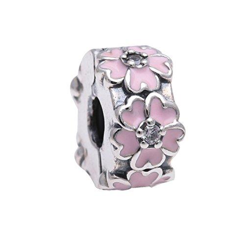 PANDORA Pink Primrose Clip (791823EN68) - Bracelet Genuine Pearl Pink Earrings