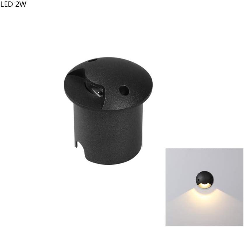 KMYX Iluminación empotrable de 2W para focos Unidireccional Iluminado Luz subterránea empotrada Escaleras Interiores y Exteriores para escalones Lámparas LED Patio Cuadrado Empotrable Proyector
