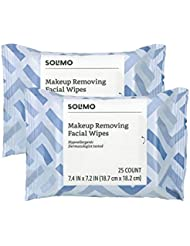 Amazon Brand - Solimo Makeup Removing Facial Wipes,...