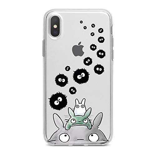 Lex Altern TPU iPhone Case 10 Max X Xs Xr 8 Plus 7 6s 6 SE 5s 5 Clear Animal Apple Bunny Phone Cute Cover Painted Print Creative Child Spirited Away Protective 2018 Flexible Girl Silicone Anime ()