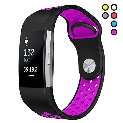 Hanlesi for Fitbit Charge 2 Bands Man Boy Replacement Accessory Sport Strap Band for Fitbit Charge 2 HR