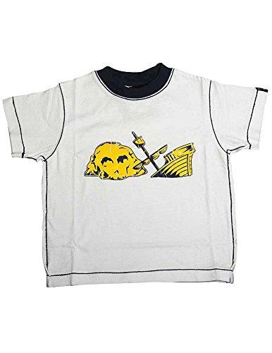 Dogwood Clothing - Little Boys Short Sleeve Tee Shirt, White, Navy 11634-5