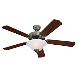 Sea Gull Lighting 15030BLE-962 Ceiling Fan with Frosted Glass Shades, Brushed Nickel Finish
