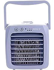روليكساسي رقم 1 مروحة تبريد الهواء محمول وصغير مزود بمروحة مكتب يو اس بي لتكييف الهواء بكفاءة، ومروحة تبريد الهواء بكفاءة ترطب الهواء بدون صوت للمنزل والمكتب
