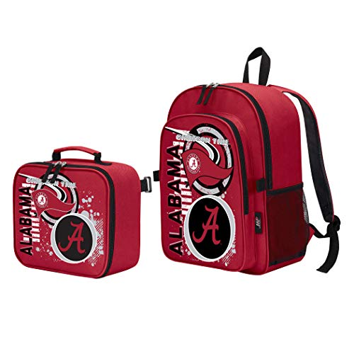 - The Northwest Company Officially Licensed NCAA Alabama Crimson Tide Accelerator Backpack & Lunch Kit Set, Red, 16