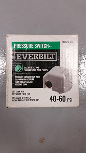 Everbilt 40/60 Pressure Switch for Well Pumps -  EBPS4060