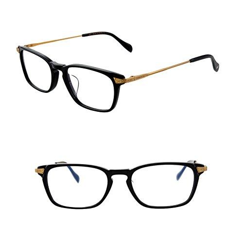 HUFU Vintage Round Oval Circle Prescription Eyewear Eyeglasses Frame with Clear Lenses (black, - Eyeglasses Plano
