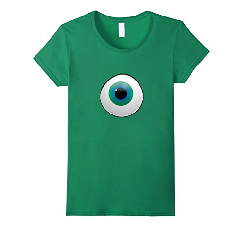 Cyclops Costume T Shirt (Womens great gift for halloween costume. It will look great. M/F Small Kelly Green)