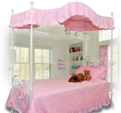 Pink Canopy Bed Cover Twin Size (Pink) & Amazon.com: Pink Canopy Bed Cover Twin Size (Pink): Home u0026 Kitchen