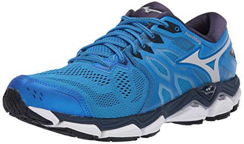 Mizuno Men's Wave Horizon 3 Running Shoe, Brilliant Blue-Cloud 13 D US