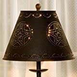 Park Designs Black Star Punched Tin 12'' Lamp Shade