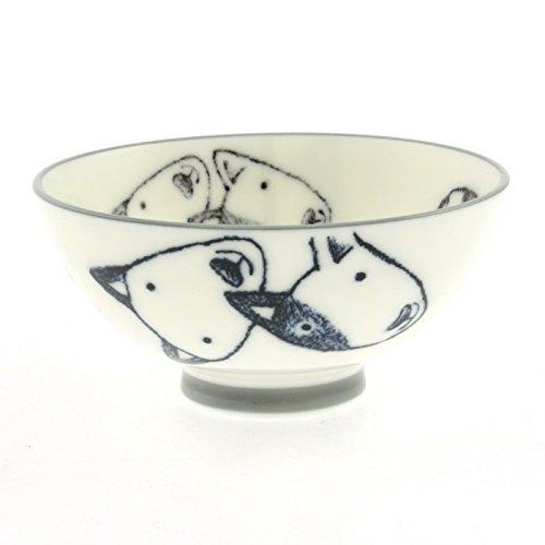 2 Pc Japanese Bull Terriers Rice Bowl Set Includes 2 Bowls kotobuki 130-448