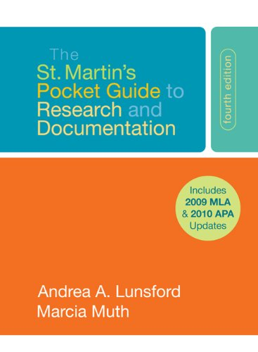 The St. Martin's Pocket Guide to Research and Documentation: Includes 2009 Mla & 2010 Apa Updates